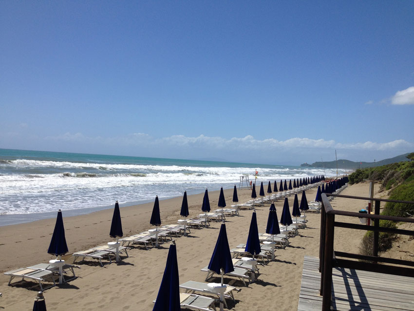 Spiaggia di Riva del Sole a Castiglione della Pescaia