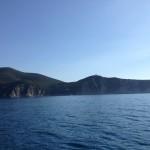 Veduta del litorale toscano dal mare